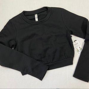 Alo Yoga Elite long sleeve crop sweatshirt